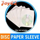 100 Paper CD DVD Paper Sleeve Envelope With Window & Flap