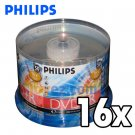 50 Pack Philips 16X 4.7GB DVD+R Blank Disc Media