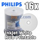 600 PK PHILIPS 16X White Inkjet HUB Printable Blank DVD-R Disc Media