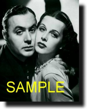 16x20 CHARLES BOYER AND HEDY LAMARR 1938 RARE VINTAGE PHOTO PRINT