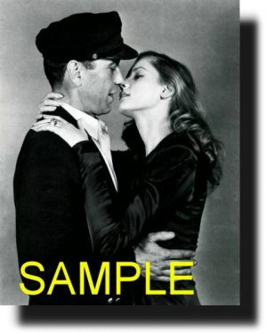 16X20 HUMPHREY VOHART AND LAUREN BACALL 1945 RARE VINTAGE PHOTO PRINT