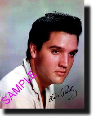 16X20 ELVIS PRESLEY COLOR SIGNED GICLEE CANVAS PHOTO PRINT