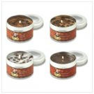 Coffee House Candles set of 4