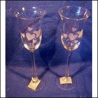 Sam's Town Heart Champagne Glasses