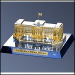 Crystal Buckingham Palace with 24kt gold accents