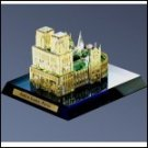 Collectible Crystal Notre Dame Cathedral with 24kt gold accents