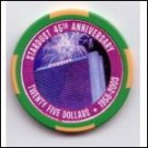 Stardust Casino $25 45th Anniversary Chip