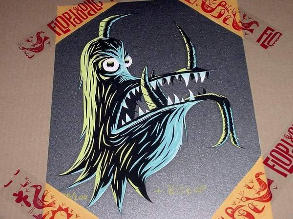 DRAGON HEAD TIM BISKUP SERIGRAPH SIGNED AND NUMBERED