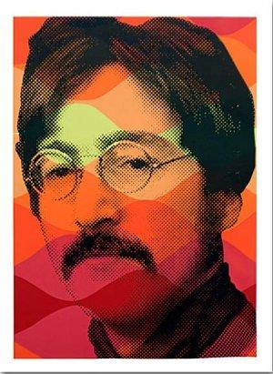 Mr Brainwash John Lennon Retro Peace Love Beatles Sargent Peppers Art