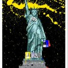 Mr Brainwash American Graffiti Paint Splash NYC Statue Liberty Paint Brush Art