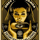 Shepard Fairey Obey Giant Sedation Pill Gold Girl Woman Lady Art Limited
