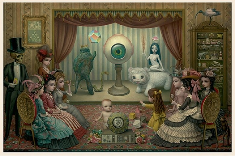 """Mark Ryden """"The Parlor"""" Signed and Numbered Edition of 500 with Certificate of Authenticity"""