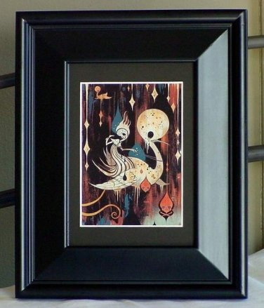 Camille Rose Garcia Cavern Swan Escape Glitter Angles Gothic Art