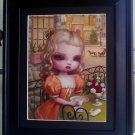 "Mark Ryden ""Grinder"" (Detail) Young Girl Orange Dress Bumblebee Tea Party"