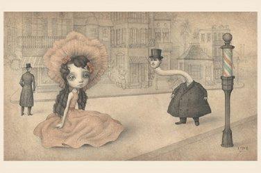 "Mark Ryden ""The Street"" Official Porterhouse Miniature Microportfolio Print"