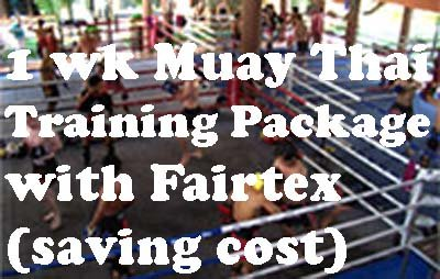 1 Week Fairtex Muay Thai Training Shared Fan 2 Person