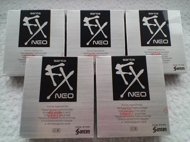 Japanese Eye drops Sante NEO FX - SUPER MINTY *5 Boxes*  FREE SHIPPING!
