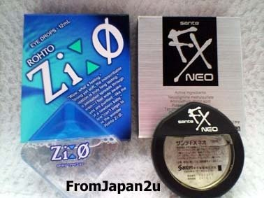 Rohto Zi:0 & Sante FX NEO Japanese Eye Drops - 1 box each FREE SHIPPING!