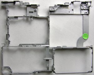 "GENUINE APPLE iBOOK G3 900MHz 12"" BODY METAL FRAME RIB"
