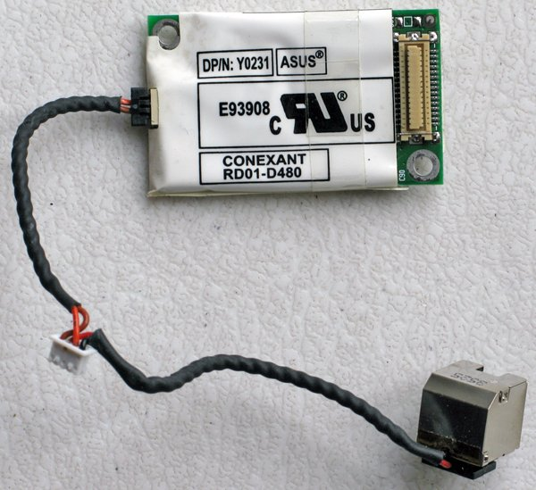 DELL LATITUDE D600 D505 MODEM W/ CABLE & JACK 0Y0231