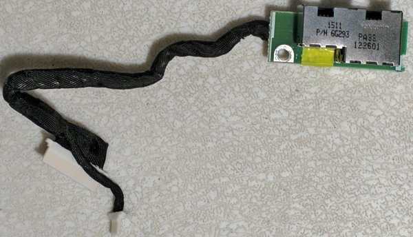 DELL C800 C810 8100 8200 MODEM / LAN CABLE & JACKS 6G293