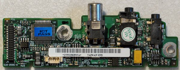 POWERBOOK G3 WALLSTREET DC & SOUND BOARD 820-0986-B
