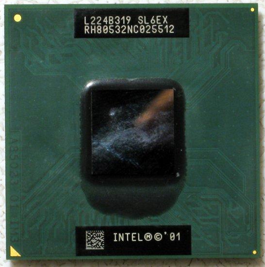 TOSHIBA SATELLITE 2400 INTEL MOBILE PENTIUM 4 1.6GHz CPU SL6EX