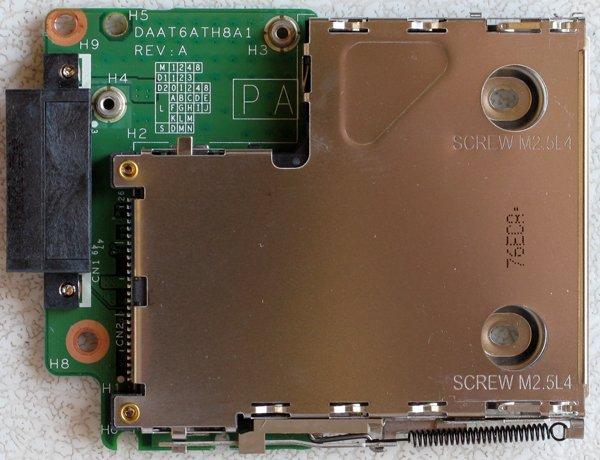 HP PAVILION DV6000 DV6500 DV6565 PCMCIA REMOTE CAGE BOARD DAAT6ATH8A1 REV: A