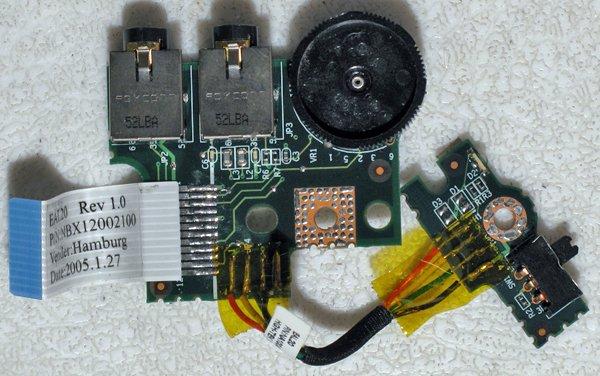 TOSHIBA SATELLITE M35X M30 AUDIO BOARD WiFi SWTICH LS-2463