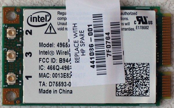 HP PAVILION DV2000 DV6000 DV9000 MINI PCI WIFI CARD 441086-001