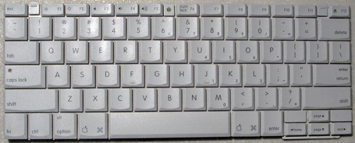 """GENUINE OEM APPLE MAC iBOOK G3 G4 14"""" KEYBOARD 922-6189"""