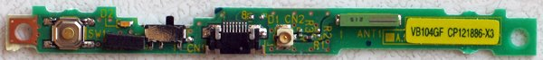 FUJITSU LIFEBOOK P SERIES WIRELESS WiFi SWITCH CP121886