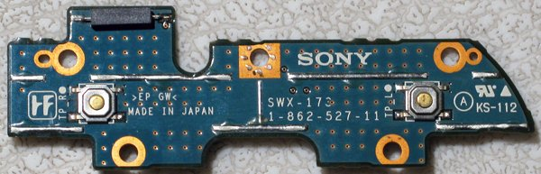 SONY VAIO VGN-S150 VGN-S160 POWER SWITCH BOARD SWX-173
