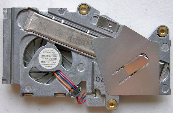 IBM THINKPAD T20 T21 CPU PROCESSOR HEATSINK & FAN P/N 04P3295