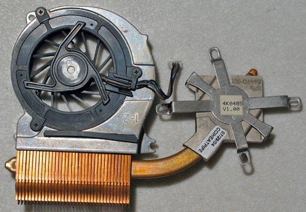 HP COMPAQ NC6000 CPU HEATSINK & COOLING FAN UDQF2PH02C1N 844410-001