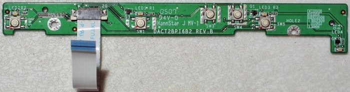 COMPAQ PRESARIO M2000 V2000 POWER BUTTON BOARD DACT2BPI6B2 W/ CABLE