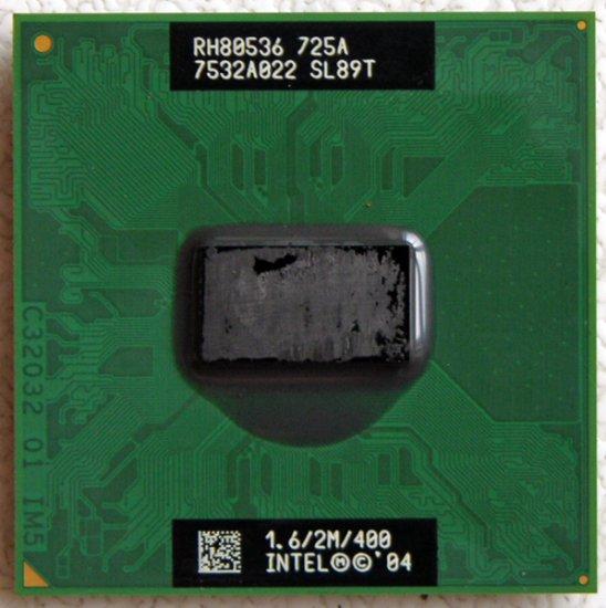 DELL INSPIRON 6000 INTEL PENTIUM MOBILE 1.6GHz LAPTOP CPU SL89T
