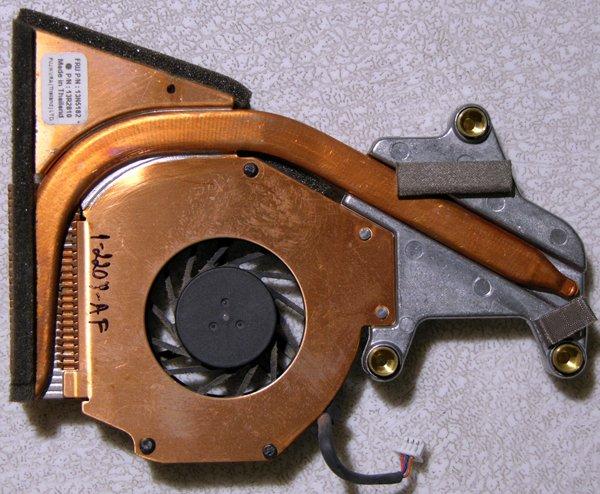 IBM THINKPAD R50 R51CPU PROCESSOR HEATSINK & FAN 13N5182 13R2810