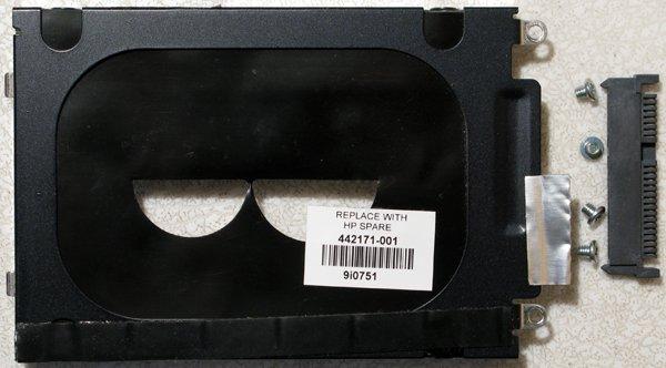 HP PAVILION DV2000 HD HARD DRIVE CADDY w/ SCREWS & IDE CONNECTOR 442171-001