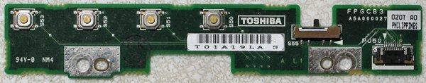 TOSHIBA SATELLITE 1800 1805 AUDIO MEDIA BOARD FPGCB3