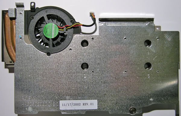 COMPAQ PRESARIO 900 N1015 CPU HEATSINK & FAN 309646-001