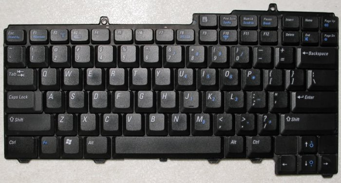 DELL INSPIRON E1505 6400 9400 KEYBOARD NSK-D5A01 NC929