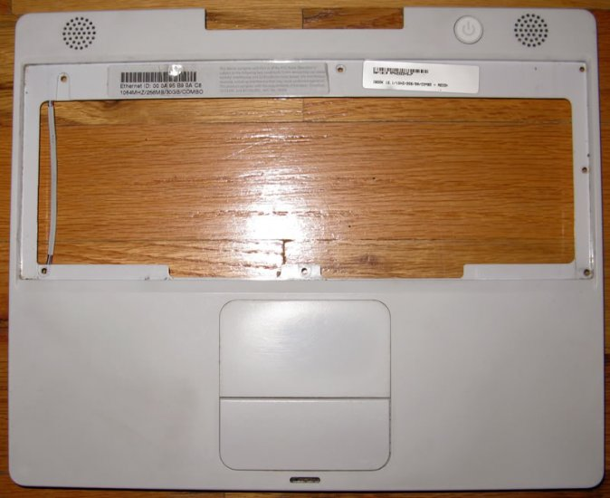 "APPLE iBOOK G4 12"" 1.064GHz PALMREST TOUCHPAD SPEAKER"