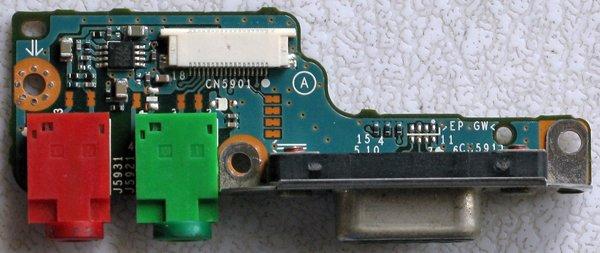 SONY VAIO VGN-S150 S360P AUDIO BOARD & VGA PORT CNX-261