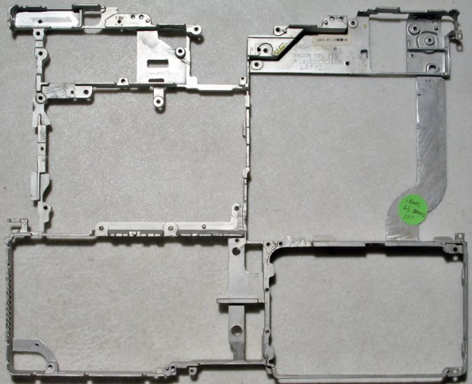 "GENUINE APPLE iBOOK G3 800MHz 12"" BODY METAL FRAME RIB"
