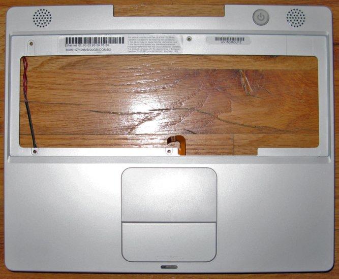 "APPLE MAC iBOOK G3 12"" 600MHz PALMREST TOUCHPAD SPEAKER"
