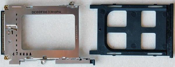 OEM HP PAVILION DV5000 PCMCIA SLOT CAGE w/ SLOT FILLER