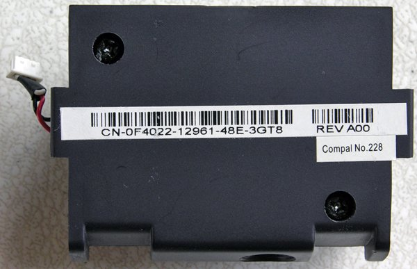 DELL INSPIRON 9100 SUB WOOFER SPEAKER ASSEMBLY F4022