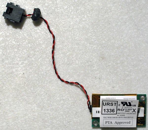 TOSHIBA SATELLITE A15 M35X 56K MODEM W/ RJ11 1456VQL4A