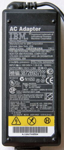 GENUINE IBM THINKPAD T20 X31 T30 T40 AC ADAPTER 02K6557